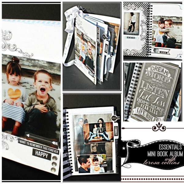 ESSENTIALS MINI BOOK ALBUM WORKSHOP Collage