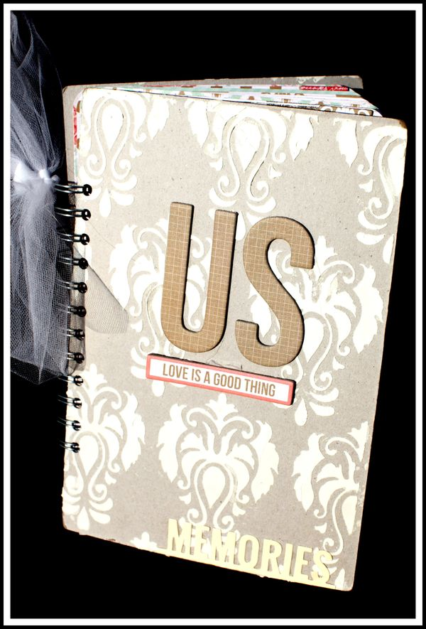 US TC STENCILED BOOK COVER