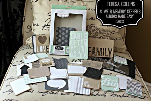 Teresa collins We R Albums Made Easy Card Set 2