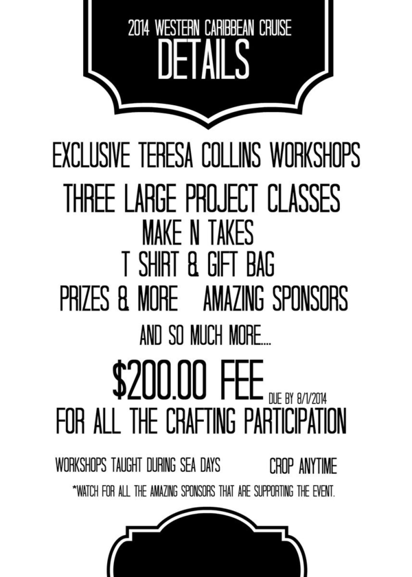 WORKSHOP DETAILS 2014 CRUISE