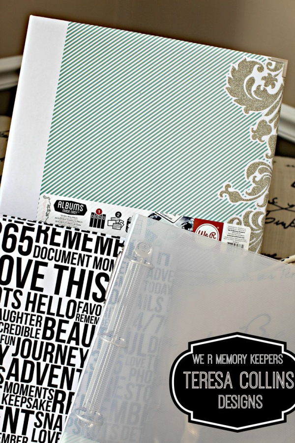 Teresa Collins We R Memory Keepers 3 NEW albums- clear, type and damask glitter